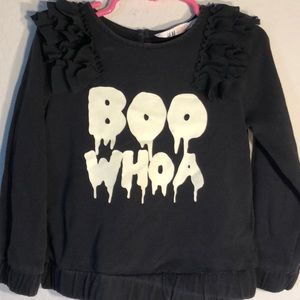 H&M glow in the dark girls ruffle sweatshirt